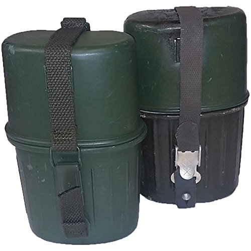 Orig. BW Feldflasche 3 teilig Trinkflasche Aluflasche Armee leicht gebraucht