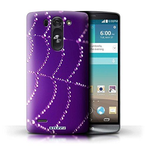 Kobalt® Imprimé Etui / Coque pour LG G3 S (Mini)/D722 / Vert conception / Série Toile d'araignée Perles Violet