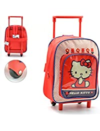 Mochila Carro Hello Kitty Capacidad 28 x 12 x 22 cms