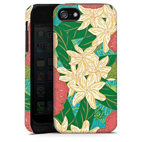 Apple iPhone X Silikon Hülle Case Schutzhülle Blumen Muster watercolor Tough Case matt
