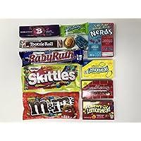 American Candy Box Hamper | Selección de cajas de regalo American Sweets and Chocolate Bar | Surtido incluye M & M's, Reese's, Nerds, Skittles | 11 artículos en Letterbox Friendly Sweets Box de Kurious Kandy