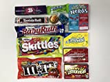 Cesto della scatola di caramelle americano | Selezione di scatole regalo American Sweets and Chocolate Bar | L'assortimento include M & M's, Reese's, Nerds, Skittles | 11 articoli in confezione di Letterbox Friendly Kits da Kurious Kandy