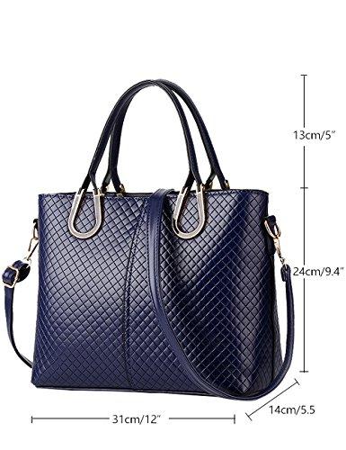 Menschwear Ladies Pu Borse Ladies Handbag Black Handbag School Ladies Borse Diamon-blue Diamon-blue