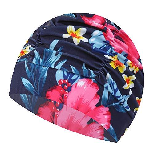 Liang cuffie da nuoto - swim in poliestere con fodera in tessuto con cuffia da nuoto a stampa fiore - consulta le opzioni di colore,13thcolor