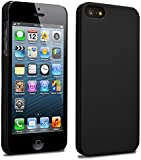 iPhone 5 5S SE Slim Fit Armour Hard Case Clip on Cover Matte Finish for iPhone 5 5S Black