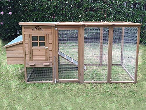 Pets Imperial® Blenheim Hühnerstall mit extra langen Auslaufflächen 8ft/2,5m und Maschendrahtabdeckung geeignet für 4/6 Vögel je nach Größe - 2