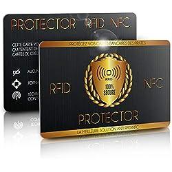 Carte Anti RFID/NFC, Protège Toutes Vos Cartes Bancaires des Hackers, Fini Les Etuis et Pochettes, Carte Anti Piratage, Protege Passeport/Carte Bleue sans Contact, 1 Suffit, 𝗘𝗕𝗢𝗢𝗞 𝗢𝗙𝗙𝗘𝗥𝗧