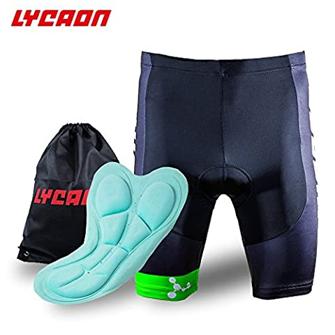 LYCAON Bike Bicycle Cycling Shorts Gel Padded Shorts 3D Antibacterial Coolmax Silica Gel Padding Biker Shorts Half Pants for Road Bike Mountain Bike MTB Shorts Cycling Clothing Men Women (Light Green,