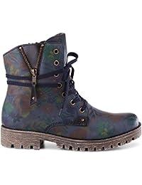 Rieker 78537-15 Damen Boots Schnürung Textilfutter Sportive Profillaufsohle 4ce8455f72