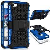 ONEFLOW Apple iPhone 5S | Hülle Silikon Hard-Case Blau Outdoor Back-Cover Extrem Stoßfest Schutzhülle Grip Handyhülle für iPhone 5/5S/SE Case Rückseite Tasche
