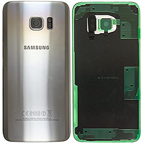 Original Samsung Akkudeckel silver / silber für Samsung G935F Galaxy S7 EDGE - (Akkufachdeckel, Batterieabdeckung, Rückseite, Back-Cover) -