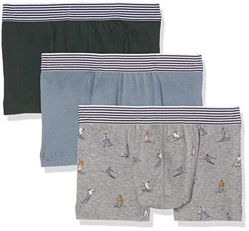 Petit Bateau Jungen Boxershorts Boxer_4460800, 3er Pack, Mehrfarbig (Variante 1 00), 98 (Herstellergröße: 3ans/95cm)