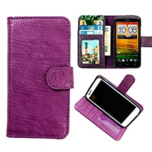 DooDa PU Leather Wallet Flip Case Cover With Card & ID Slots & Magnetic Closure For Micromax Bolt A26