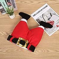 Allsunny Christmas Hat Funny Santa Claus Legs Pants Plush Hat Cap Christmas Halloween Party Decoration