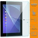 zanasta Bildschirmschutz Folie kompatibel mit Sony Xperia Tablet Z2 Bildschirmschutzfolie aus gehärtetem Glas Schutzglas Glasfolie Schutzfolie | Klar Transparent