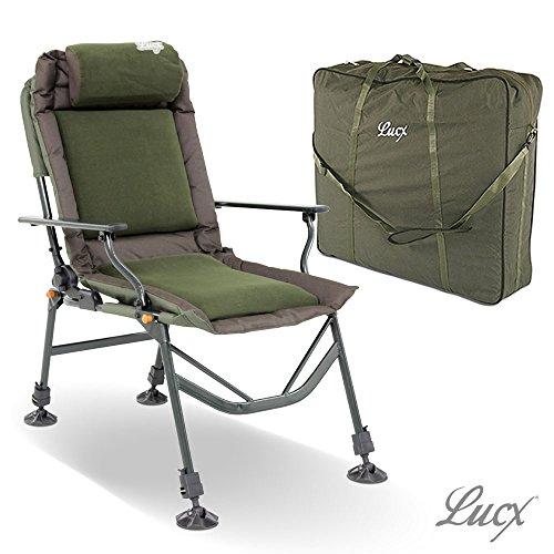 Lucx® Set / Angelstuhl Like a Boss / Karpfenstuhl / Carp Chair + Chair Bag / Tragetasche / Transporttasche für Stuhl