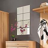 8 Stück Spiegelfliesen Spiegelkachel Fliesenspiegel Spiegel je 20x20cm Wanddekoration Wandspiegel
