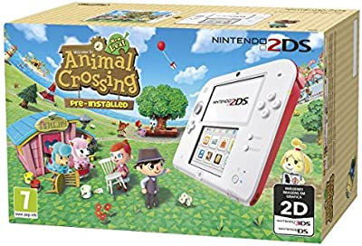 Nintendo 2Ds - Consola HW, Color Rojo Y Blanco + Animal Crossing: New Leaf
