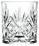 RCR 25935020006 Melodia Crystal Short Whisky Water Tumblers Glasses, 230 ml, Set of 6-Clear