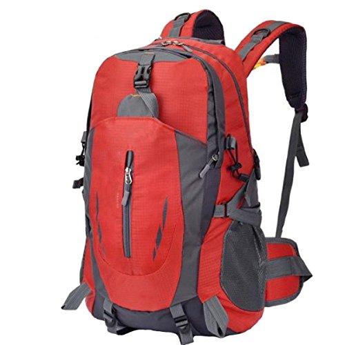 OGERT Zaino Esterno Di Corsa Di Svago Di Grande Capacità Di Alpinismo Impermeabile,Red Red