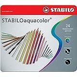Stabilo Aquacolor - Paquete de 24 lápices de color acuarelable, multicolor