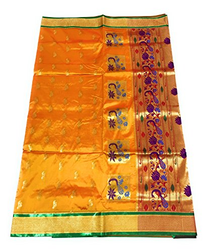 Hariom Wholesale Depo Women's Art Silk Saree With Blouse Piece (Hwdd4-Goldgreen,Gold Green...