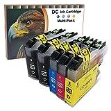 D&C 10 Druckerpatronen komp. für Brother LC-127 LC-125 DCP J4110 DW, MFC J4410 DW, MFC J4510 DW, MFC J4610 DW, MFC J4710 DW