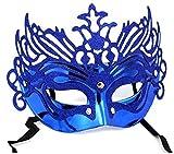 Inception Pro Infinite Máscara para Disfraz - Traje - Carnaval - Halloween - Teatro - Noble - Veneciana - Brillo - Azul - Adultos - Mujer - Niña