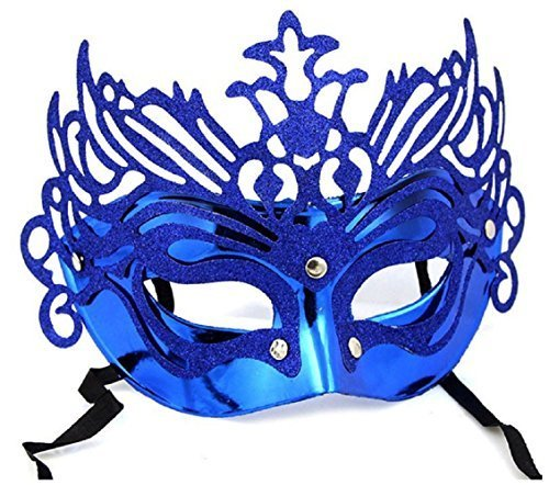 Inception pro infinite maschera per costume - travestimento - carnevale - halloween - teatro - nobile - veneziana - glitter - blu - adulti - donna - ragazza