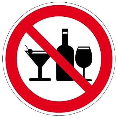 Verbotszeichen - Alkoholische Getränke sind nicht gestattet - Aluminium Selbstklebend