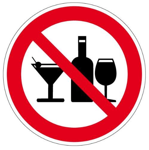 Verbotszeichen - Alkohol verboten - Aluminium - Ø 20 cm (Alkohol-system)