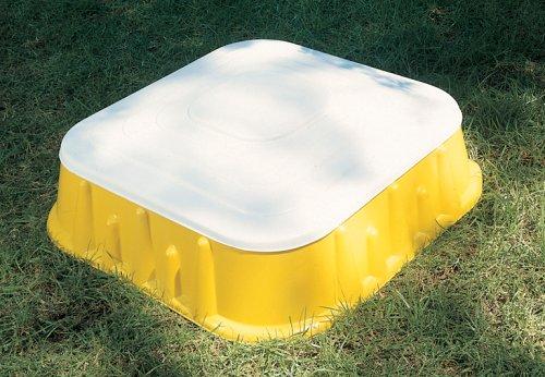 Starplast 04-516 - Sandkasten mit Deckel 77 x 77 x 18,5 cm / Volumen: 60 Liter