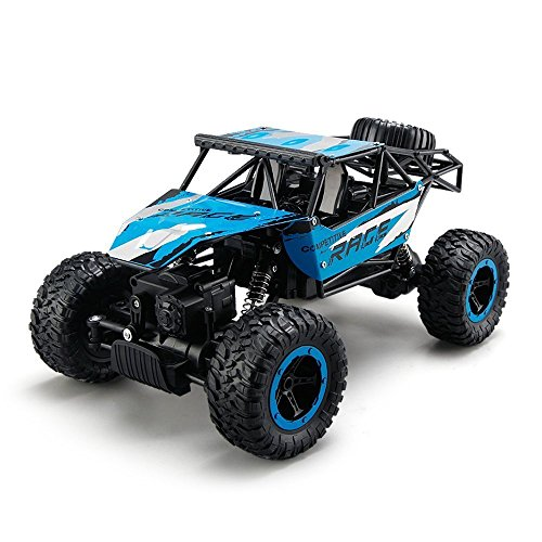 PowerLead GV005 Remote Control Cars,RC Rock Off-Road Vehicle 2.4Ghz 4WD Fast Speed Racing Cars-Blue