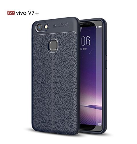 best authentic bd493 3d8da Bounceback ® For Vivo V7+/ V7 PLUS Shock Proof Leather Pattern Armor Soft  Back Case / Cover