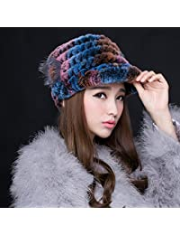 BTBTAV*piel de invierno y sombreros de pelo de conejo hembra cap hat informales cálidas