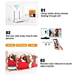 4.5 Litre Automatic Pet Cat Feeder Smart Food Dispenser HD Wifi Real Time Monitoring Dogs by Mobile App 13