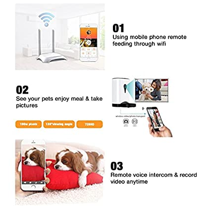 4.5 Litre Automatic Pet Cat Feeder Smart Food Dispenser HD Wifi Real Time Monitoring Dogs by Mobile App 6