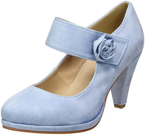 3005706, Zapatos de Tacón con Punta Cerrada para Mujer, Pantalon de Mezclilla (Jeans), 37 EU Hirschkogel