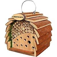 Gardigo Hôtel à insectes pour abeilles & coccinelle naturholzfarben