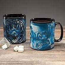 Paladone PP6637DD Dungeons and Dragons Heat Sensitive Colour Change 550ml (18.5floz) Mug, Ceramic