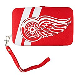 NHL Detroit Red Wings Shell Wristlet, 3.5 x 0.5 x 6-Inch, Red