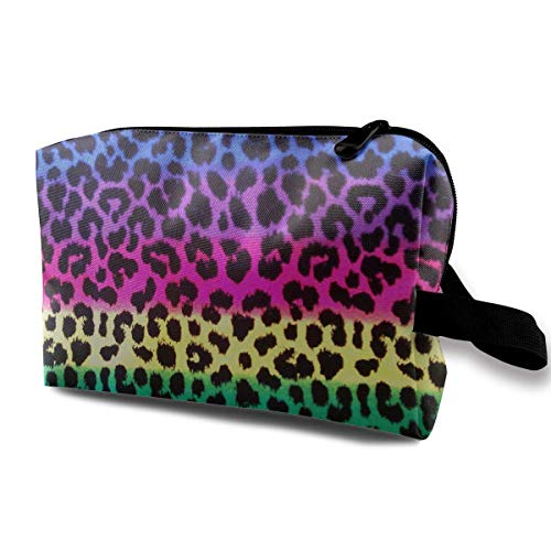 Colorful Cheetah Leopard Portable Travel Makeup Cosmetic Bags Organizer Multifunction Case Toiletry Bags