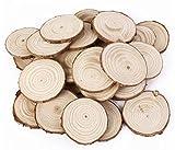 omeny madera 25pcs 5cm madera Log discos de rodajas de madera natural corteza cuadro decorativo