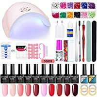 Yeldou Gel Nail Starter Kit,Nail Polish Kit with 36W LED Nail Lamp, Manicure Tools Nail Art Home Use Kit Set (S6809)