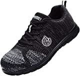 DYKHMILY Sicherheitsschuhe Herren Damen Hiking Schuhe D-05 Leichte Atmungsaktiv reflektierende Strickschuhe Sportlich Trekking(Nacht,44 EU)