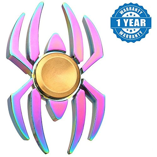 Cheers Smart Turbo Compatible Certified Spider Fidget Hand Spinner Rainbow Color Spider Design Shaky Spin(1 Year Warranty)