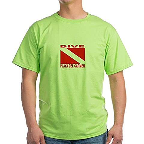 CafePress - Dive Playa Del Carmen Green T-Shirt - 100% Cotton T-Shirt