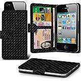 i-Tronixs (Schwarz) für UleFone (aus Leder, hochwertig, dünn, Klemmfeder zum Aufstecken verstellbar Brieftaschen-Design mit Kredit-/Debit Ulefone Power 3