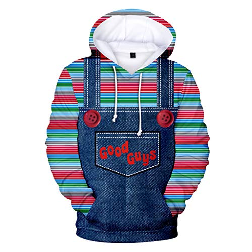 Kostüm Kind Chucky - XXW Good The Chucky 3D Print Jacke Hoodie Hundert Grab Unisex Hip Hop Streetwear Jacke Kostüm Kleidung