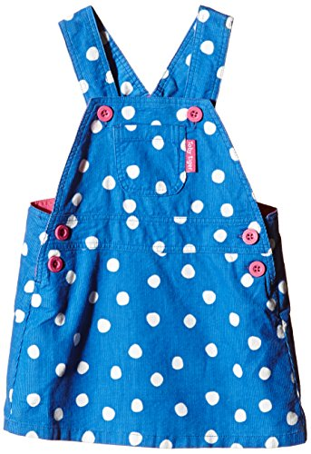 Toby Tiger 100% Cotton blue dot cord dress.-Vestito  Bambina    blu 6-12 Meses